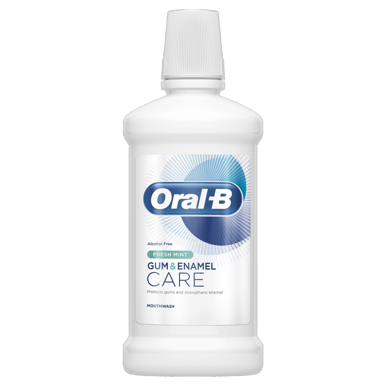 Oral-B Gum & Enamel Care Fresh Mint Mouthwash Στοματικό Διάλυμα για Ενδυνάμωση των Ούλων & Ενίσχυση του Σμάλτου 500ml