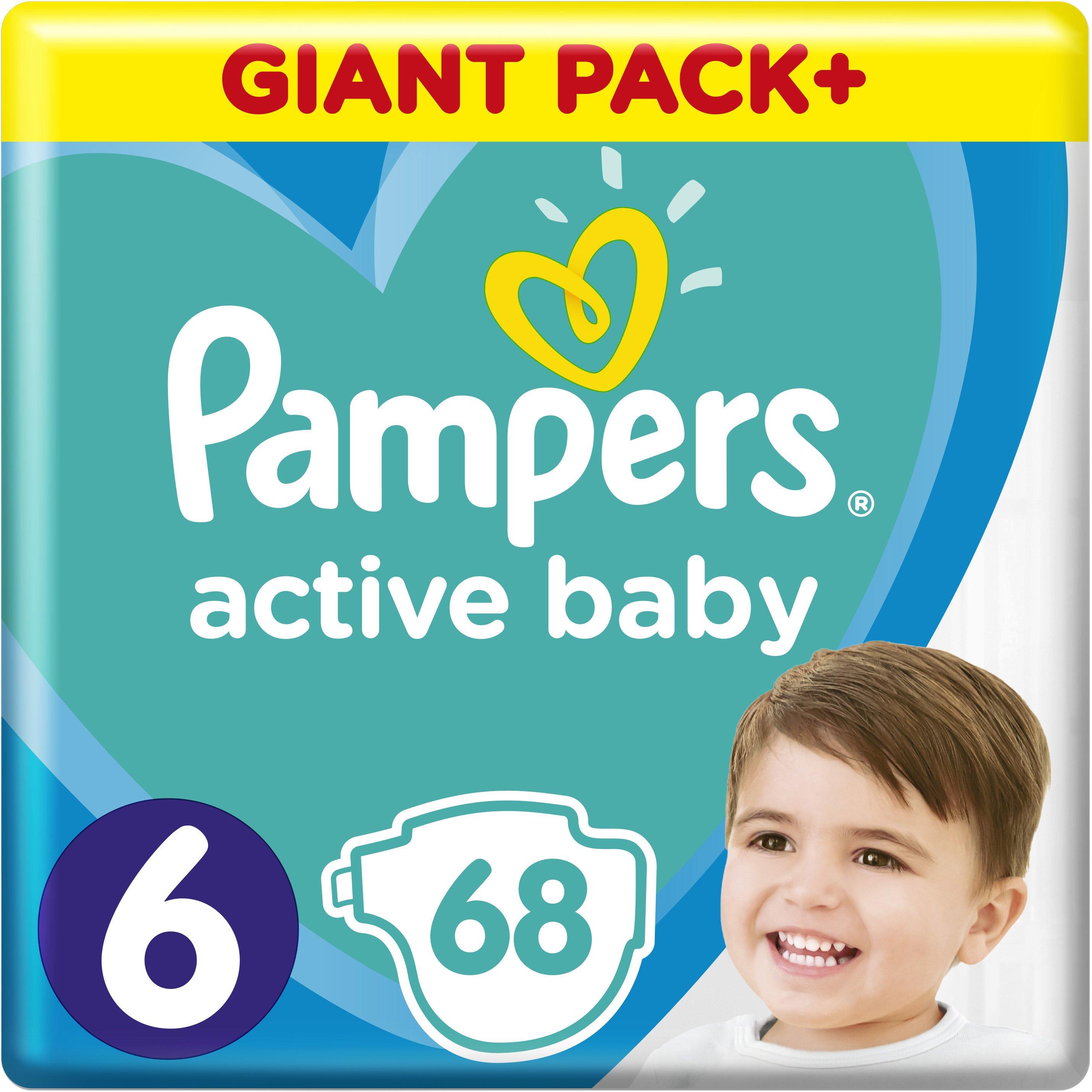Pampers Active Baby Πάνες Giant Pack No6 (13-18 kg), 68 Πάνες μητέρα παιδί   περιποίηση για το μωρό   πάνες για το μωρό