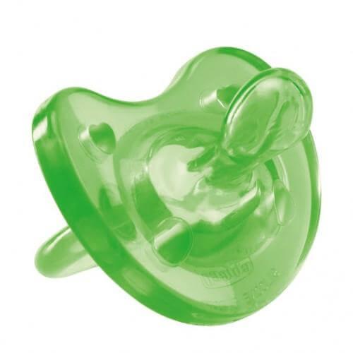 Chicco Πιπίλα Physio Soft Όλο Σιλικόνη Πράσινη – 6-12m