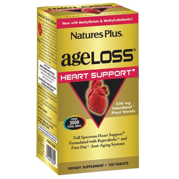 Natures Plus AgeLossHeart Support Συμπλήρωμα Διατροφήςγια την Διατήρηση της Καρδιακής Υγείας120tabs