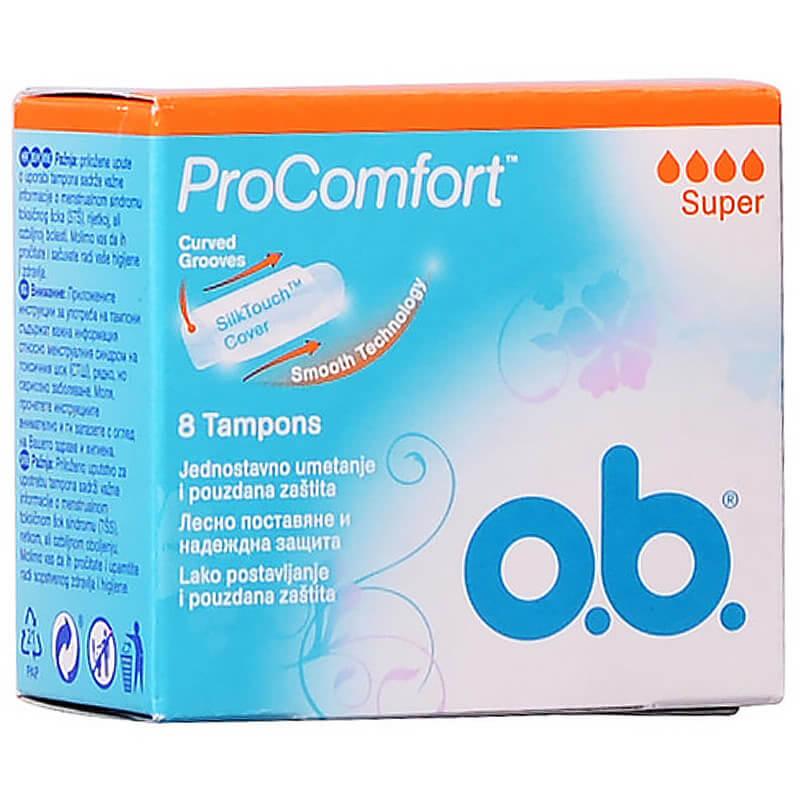 O.b. ProComfort Super Ταμπόν για Ημέρες με Μέτρια Έως Μεγάλη Ροή 8 Τεμάχια