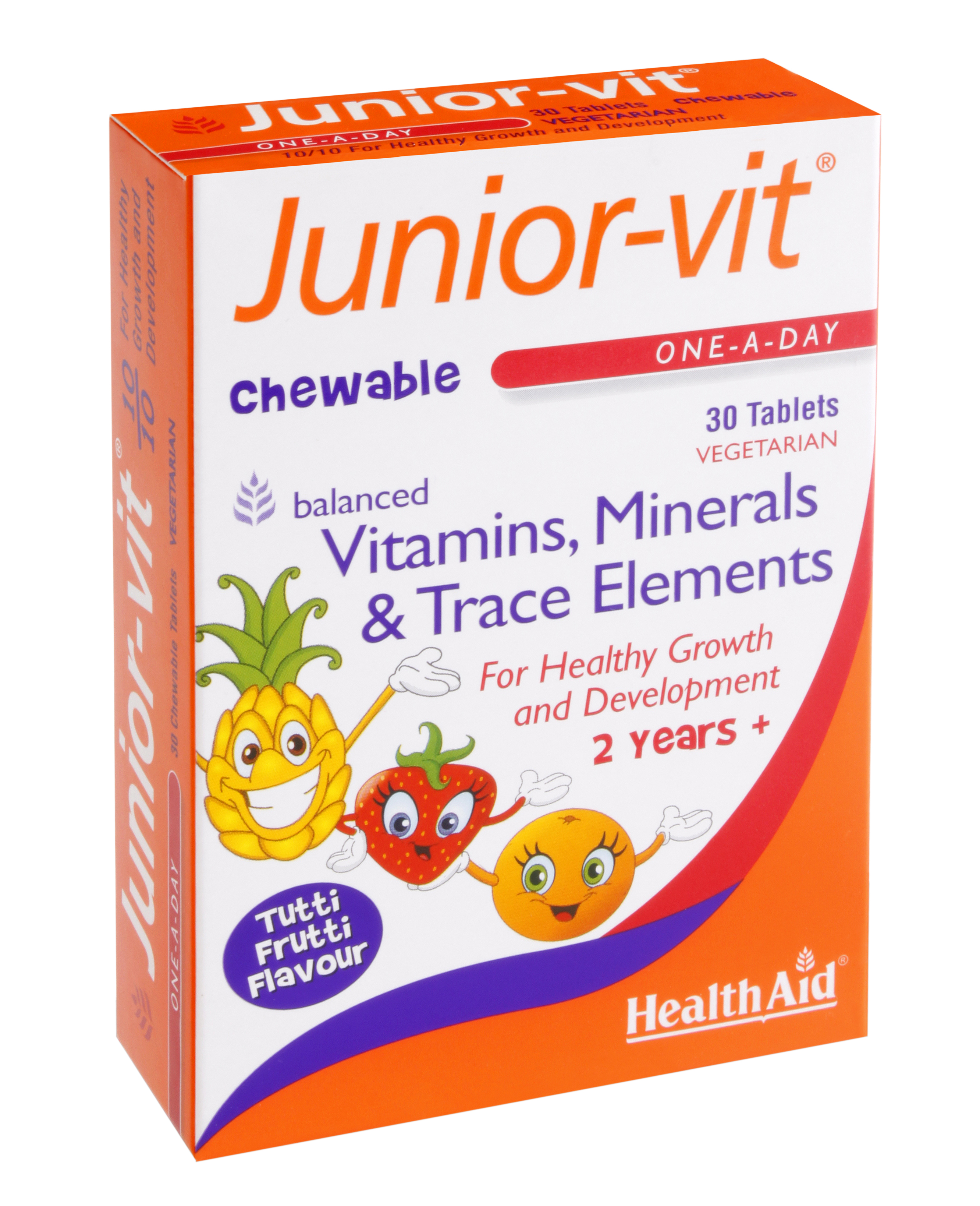 Health Aid Junior Vit Ισορροπημένη Πολυβιταμινούχος Σύνθεση Ειδική Για Παιδιά 30tabs