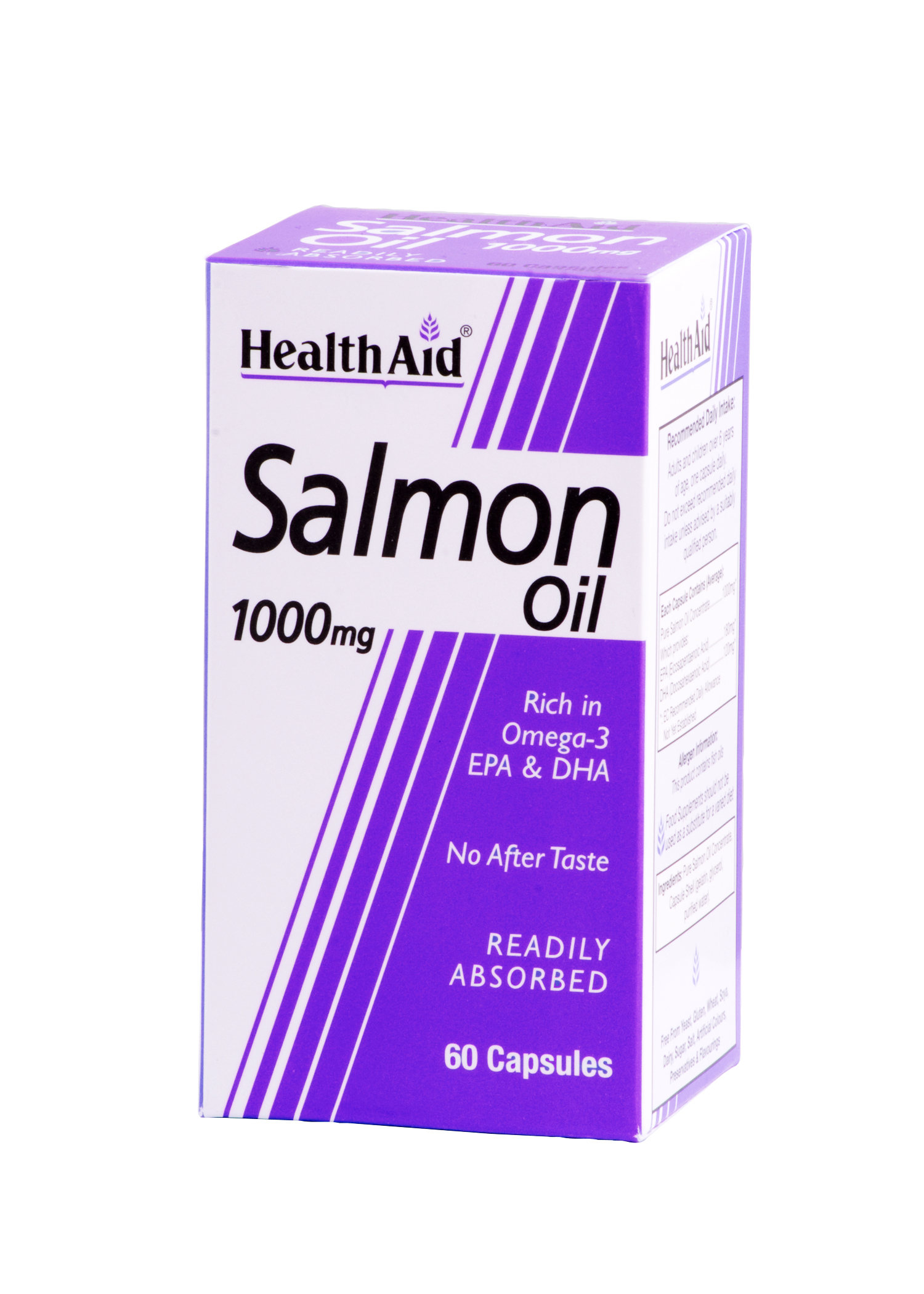 Health Aid Salmon Oil Freshwater 1000Mg Καρδιαγγειακή Και Κυκλοφορική Προστασία 60tabs