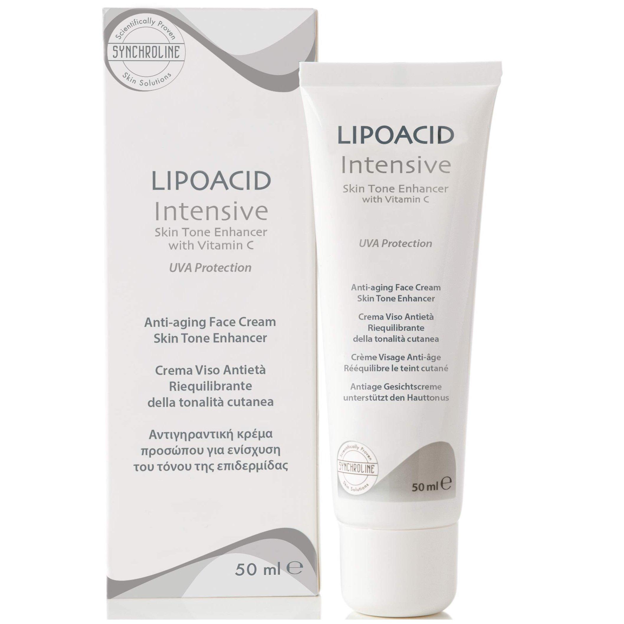 Synchroline Intensive Lipoacid Face Cream Κρέμα Προσώπου και Λαιμού με Λιποϊκό Οξύ και Βιταμίνη C 50ml