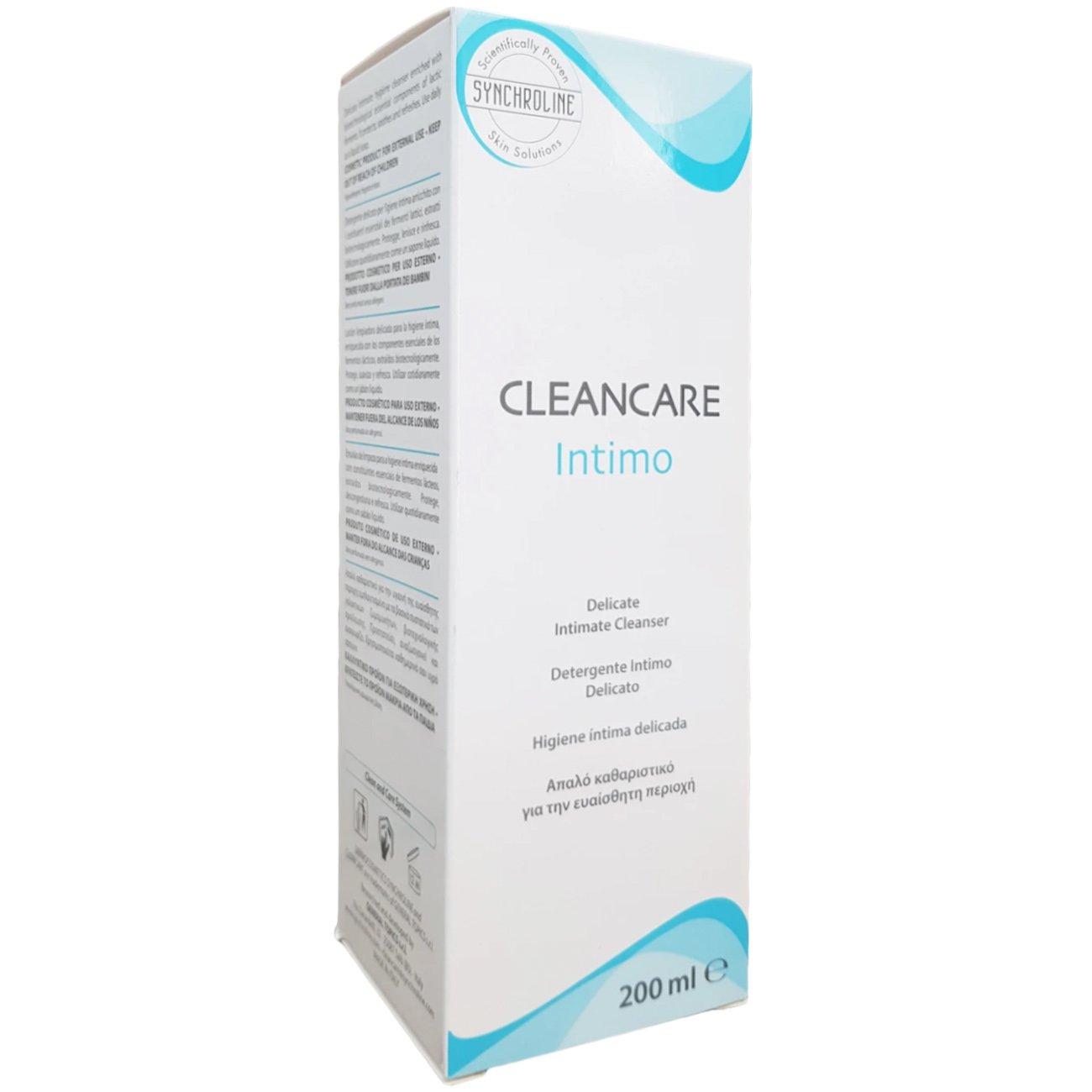 Synchroline Cleancare Intimo Cleanser pH4,5 Απαλό Καθαριστικό Σώματος με Πλούσιο Αφρό 200ml