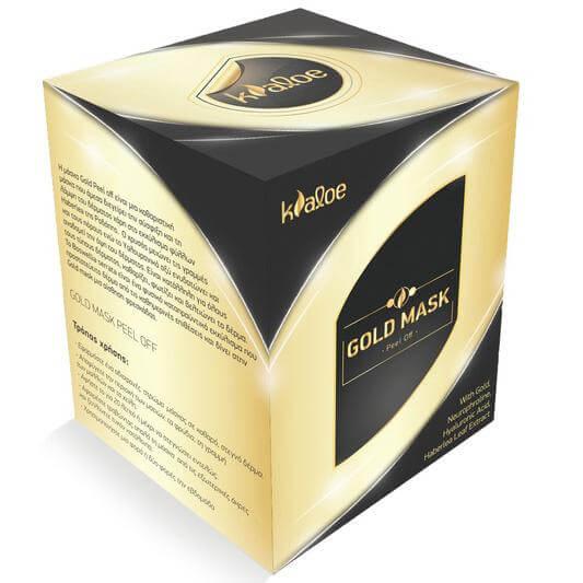 Kaloe Gold Mask Peel Off ΧρυσήΜάσκα για Σύσφιξη & Λάμψημε Εκχύλισμα Φύλλων Haberlea 50ml
