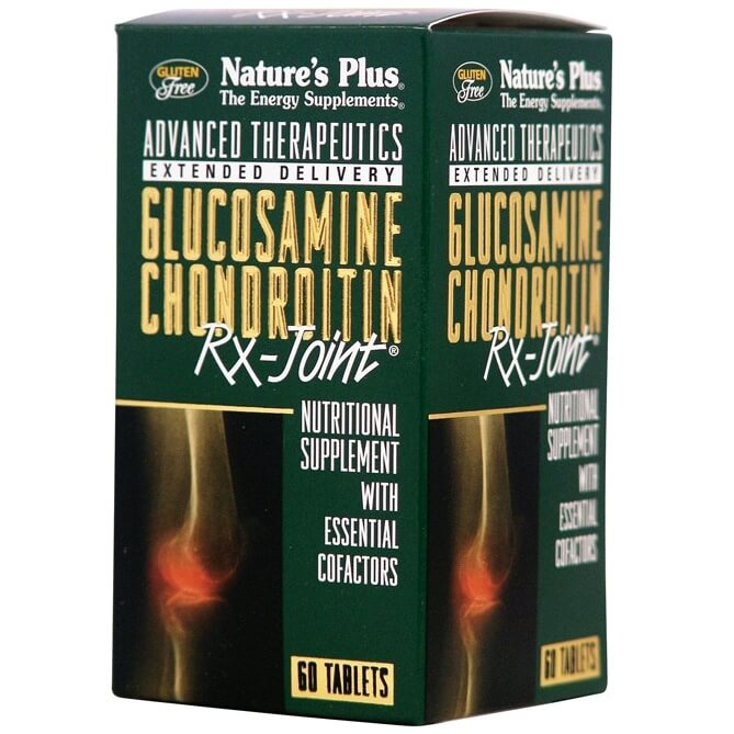 Natures Plus Glucosamine-Chondroitin Rx-Joint Συμπλήρωμα Διατροφής για Αρθρίτιδα, Προσφέρει 24η Ανακούφιση από το Πόνο 60tabs