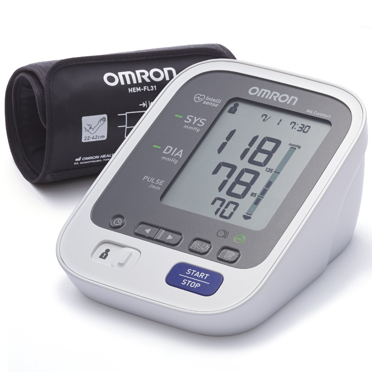 OMRON M6 Comfort Αυτόματο Ψηφιακό Πιεσόμετρο Μπράτσου σετ   εκπτώσεις νοεμβρίου 2016