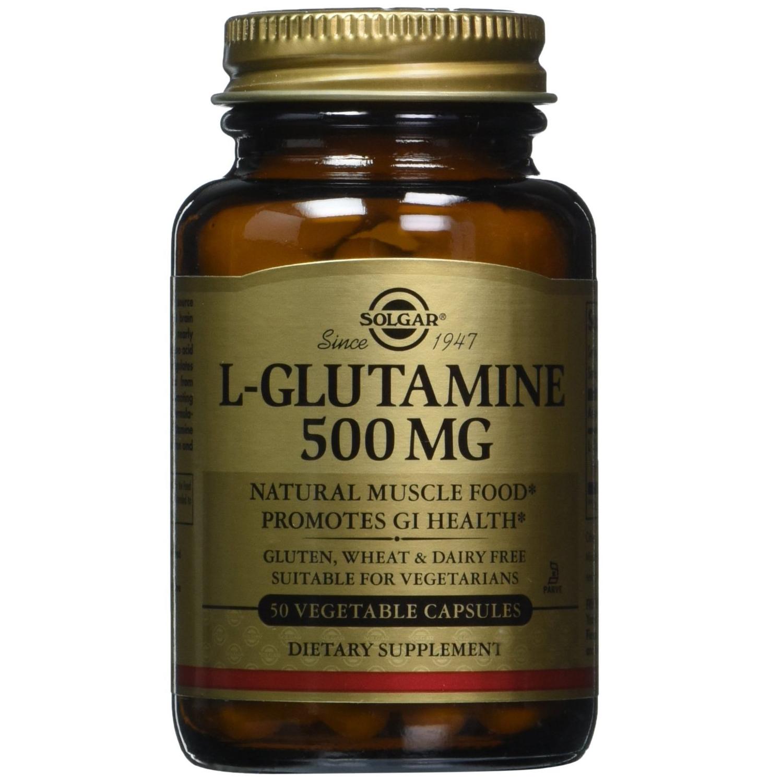 Solgar L-Glutamine 500mg Συμπλήρωμα Διατροφής, Βοηθά στις Εντερικές Διαταραχές & Βελτιώνει τη Λειτουργία του Εγκεφάλου 50veg.cap