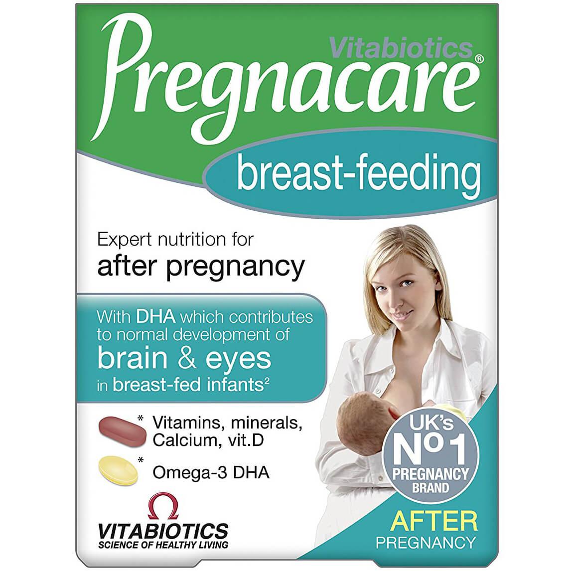 Vitabiotics Pregnacare Breast – FeedingΣυμπλήρωμα Διατροφήςγια Θηλάζουσες Μητέρες,Διπλή Συσκευασία 56tabs & 28caps