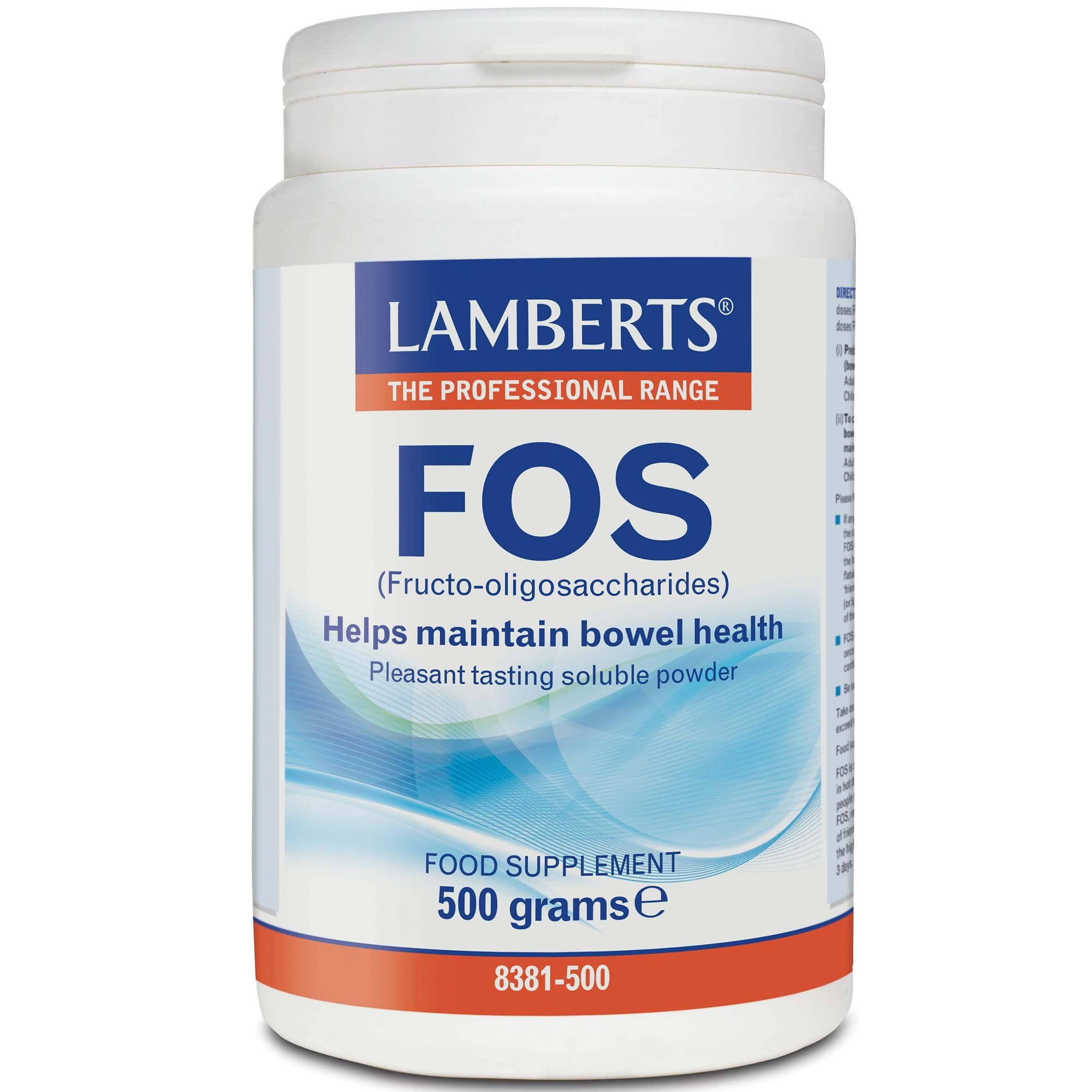 Lamberts FOS Συπλήρωμα Διατροφής για την Αύξηση Αριθμού των Βακτηρίων της Φυσιολογικής Εντερικής Χλωρίδας σε Σκόνη 500gr