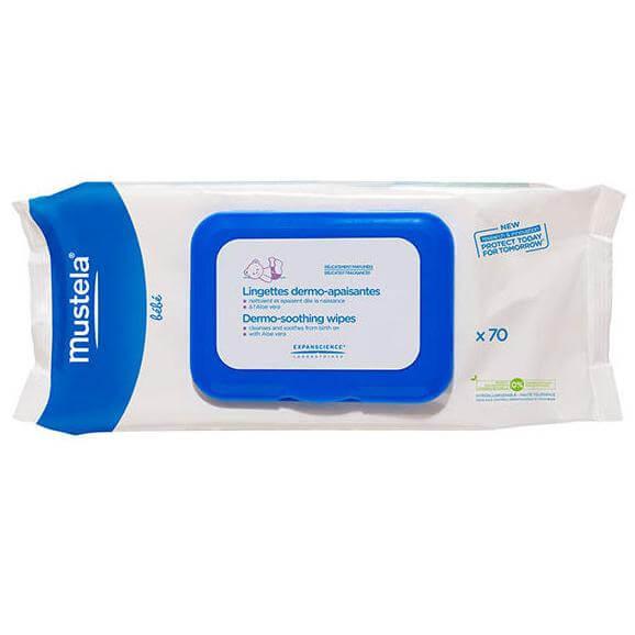 Mustela Dermo-Soothing Wipes Μαντηλάκια Καθαρισμού για Αλλαγή Πάνας 70Τμχ