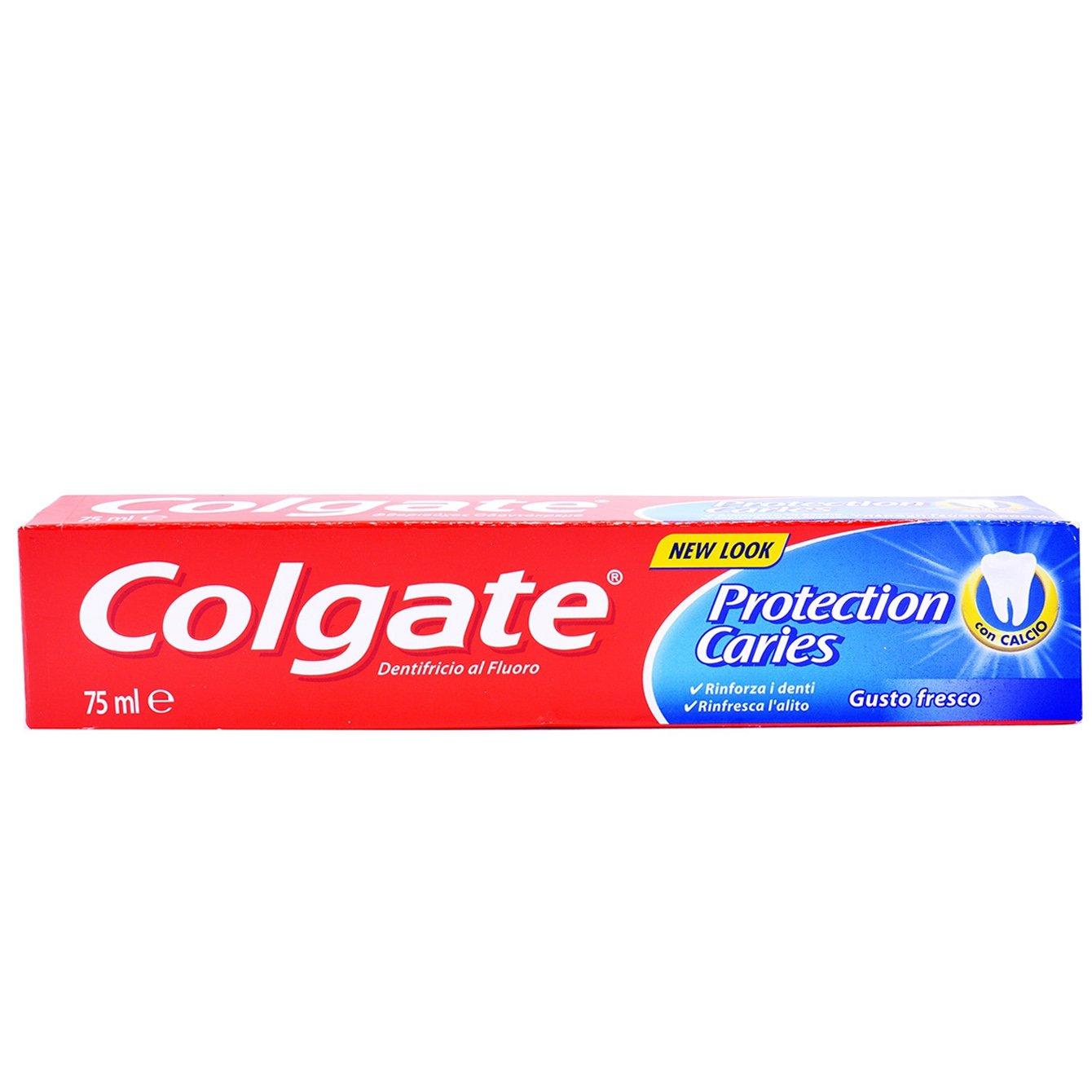 Colgate Protection Caries Οδοντόκρεμα με Ενεργό Φθόριο & Ασβέστιο για Κορυφαία Προστασία Από την Τερηδόνα 75ml