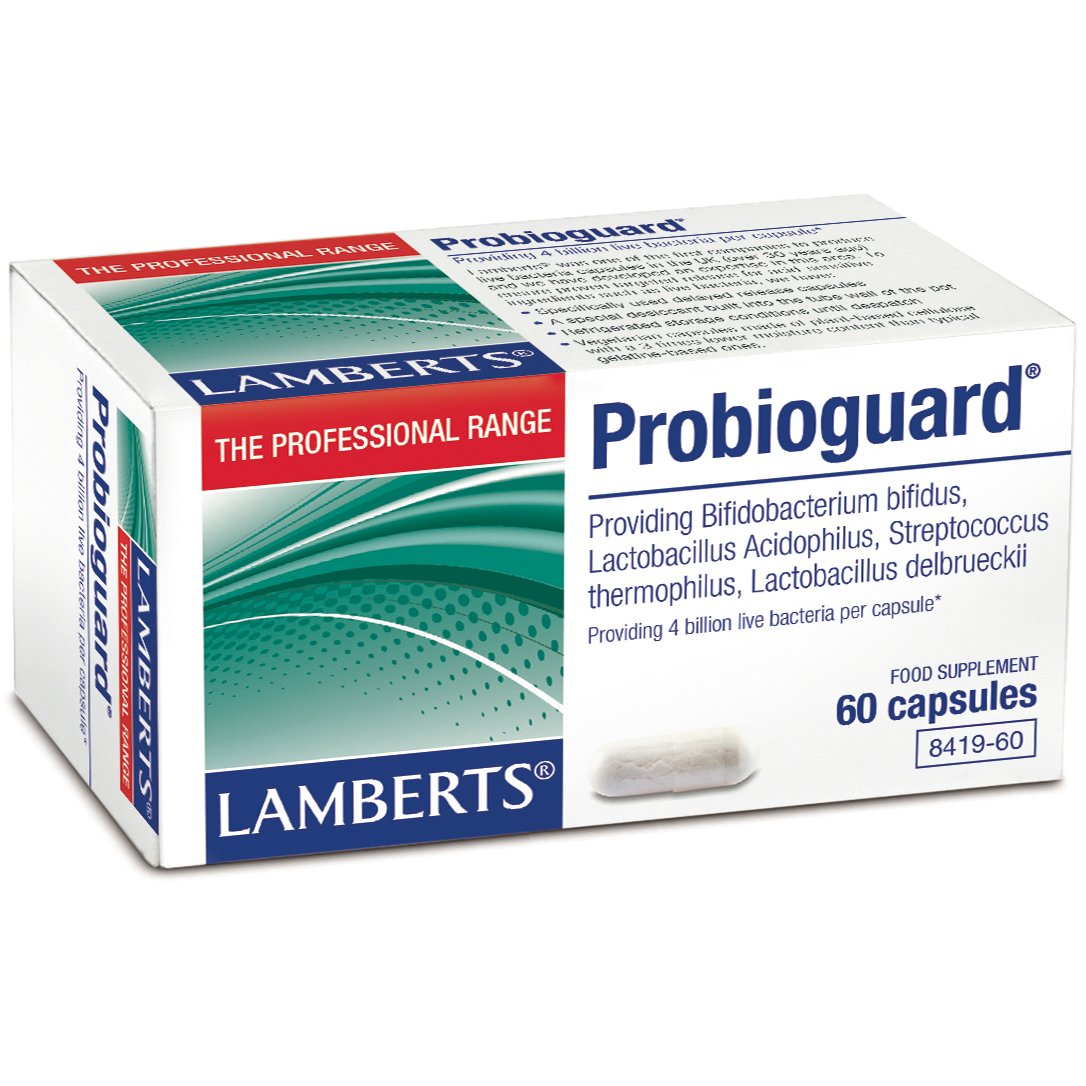Lamberts Probioguard Συμπλήρωμα Διατροφής για την Εξισορρόπηση της Εντερικής Χλωρίδας 60 caps