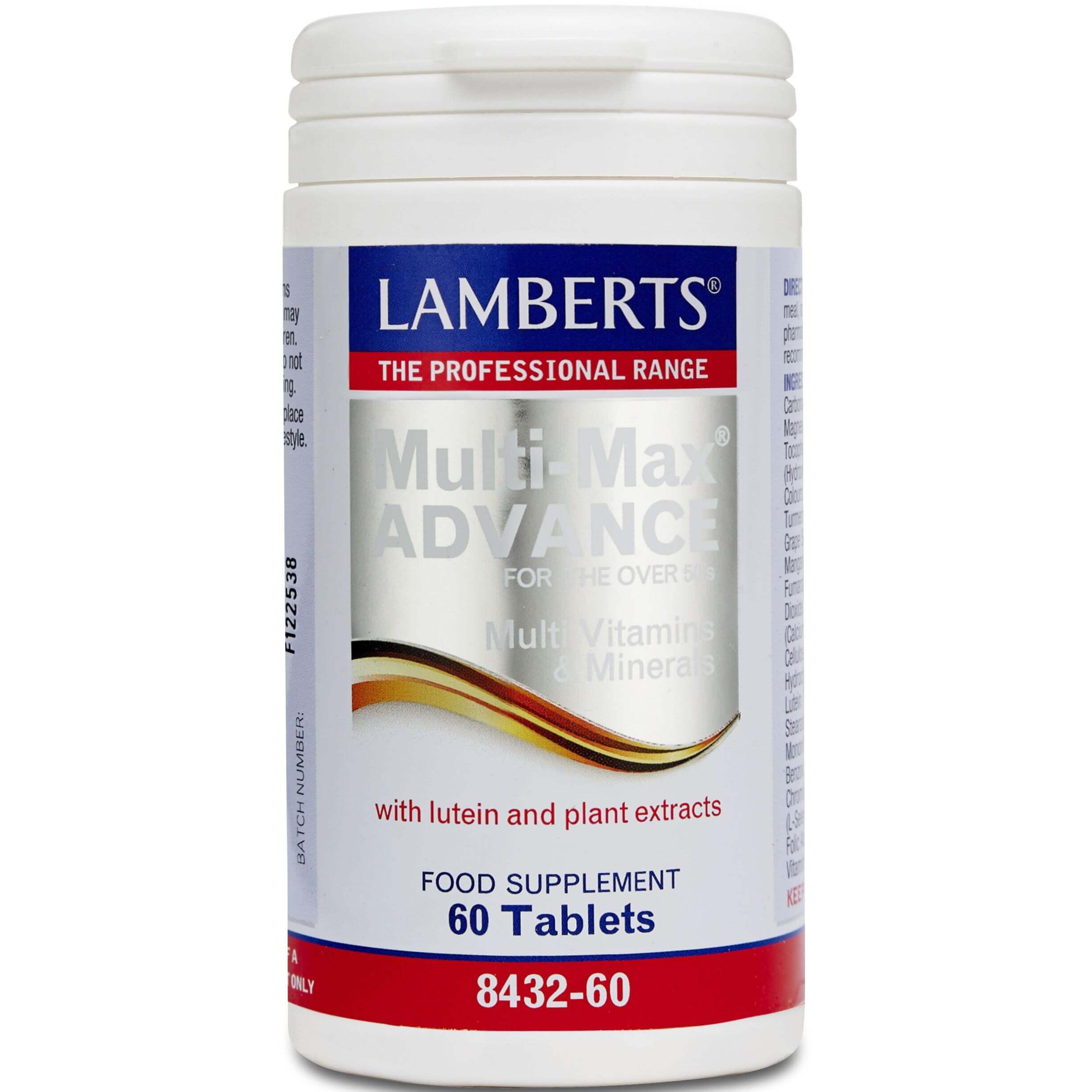 Lamberts Multi Guard Advance Συμπλήρωμα Διατροφής Πολυβιταμίνημε Λουτεΐνη και Εκχυλίσματα Βοτάνων 60 tabs