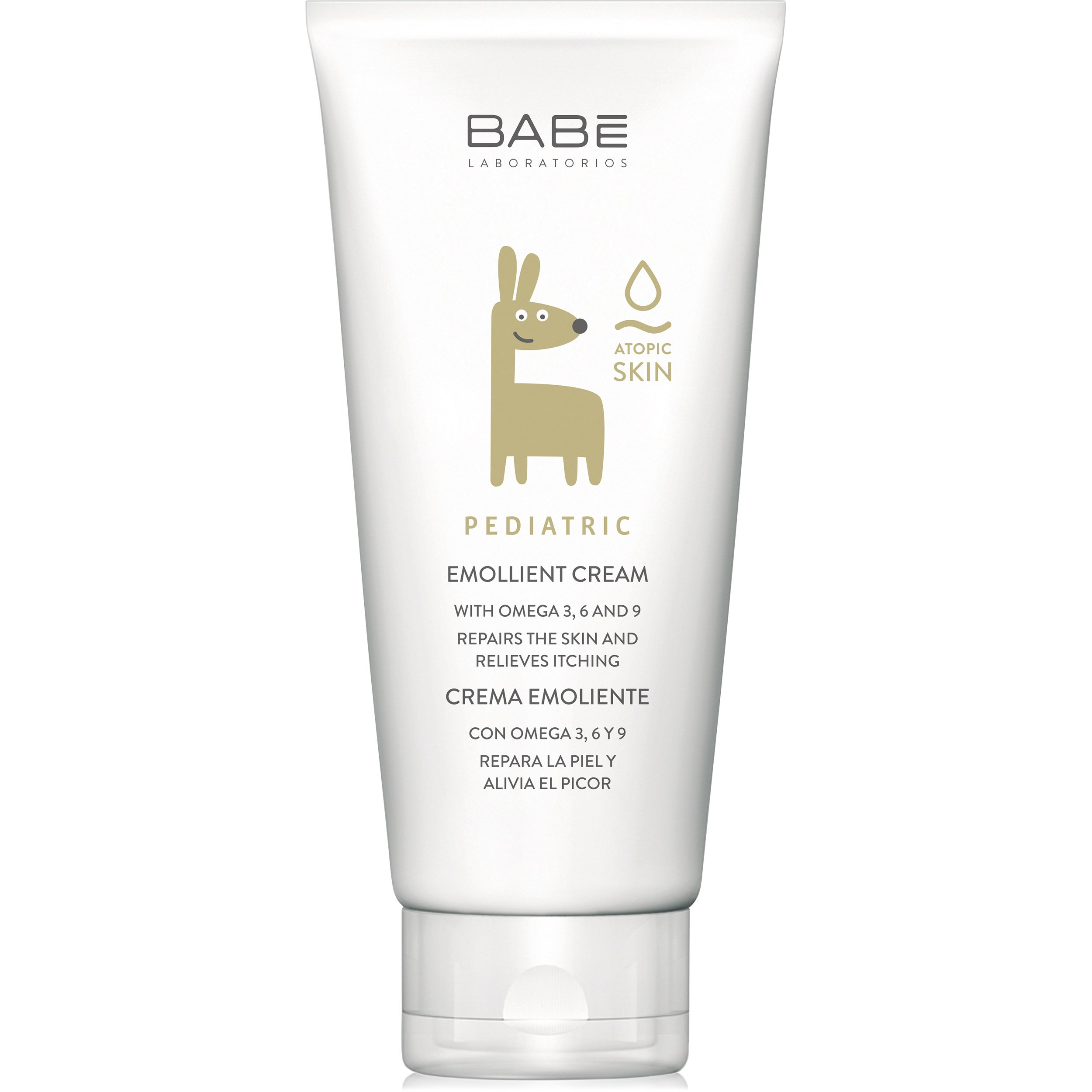 Babe Pediatric Emollient Cream Ενυδατική Κρέμα, Παρέχει Βαθιά Θρέψη στην Ξηρή, Ατοπική Επιδερμίδα των Βρεφών & των Παιδιών 200ml