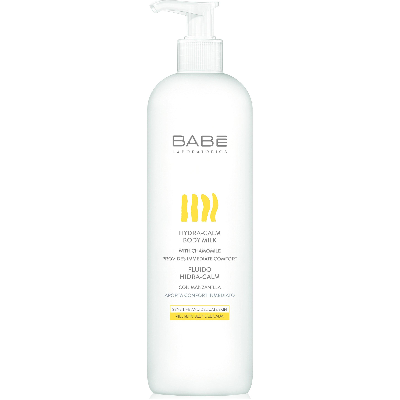 Babe Body Hydra-Calm Body Milk Απαλό Ενυδατικό Γαλάκτωμα Σώματος Βελούδινης Υφής για Ευαίσθητες Επιδερμίδες 500ml