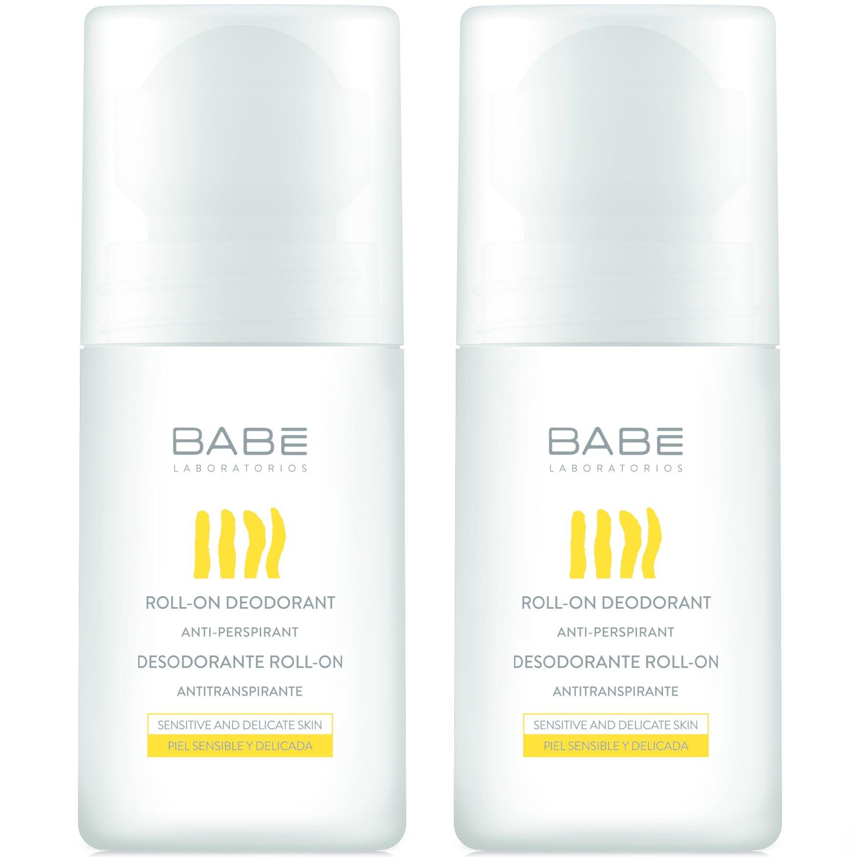 Babe Roll-On Deodorant Anti-Perspirant Αποσμητικό Σώματος Κατά της Εφίδρωσης & της Κακοσμίας 2x50ml