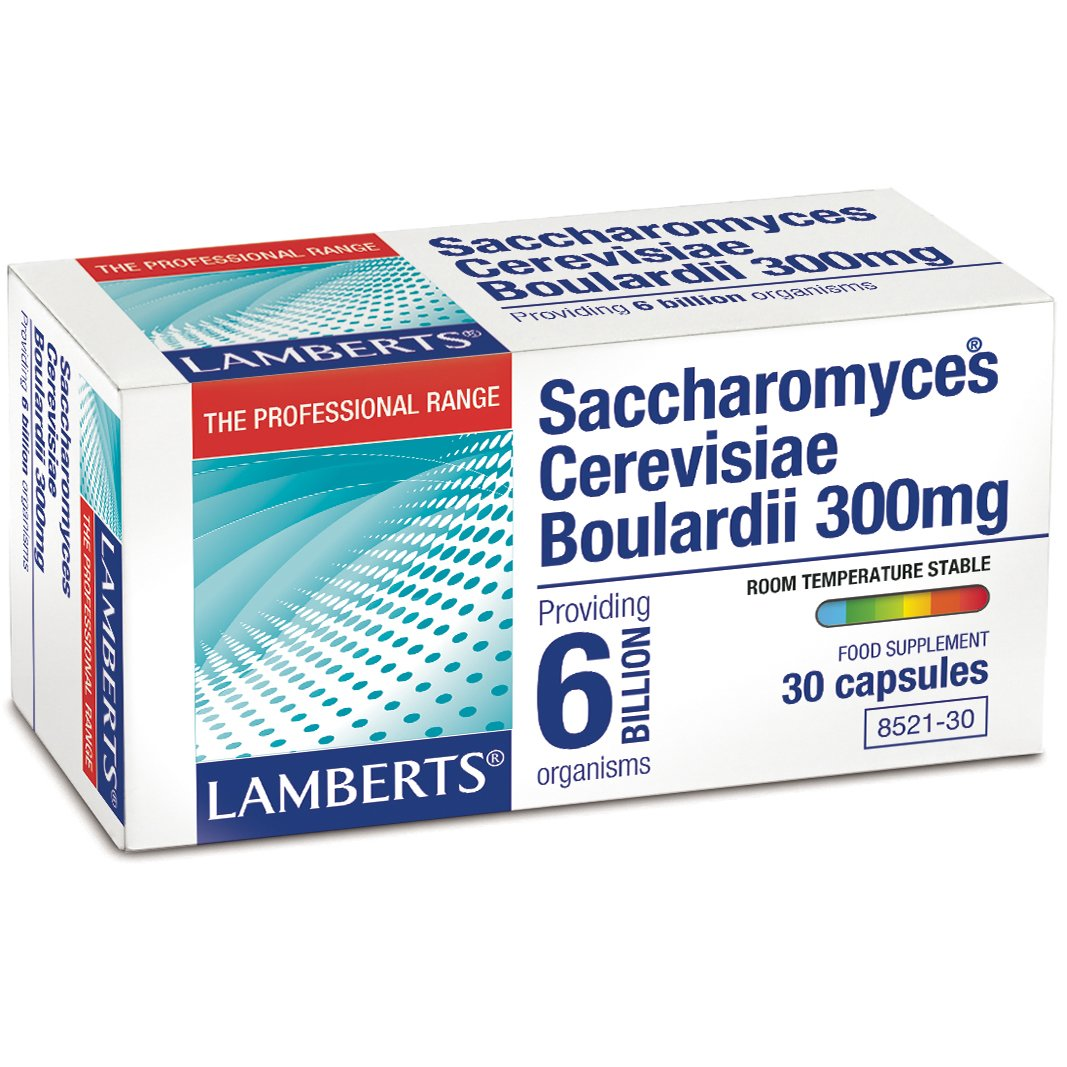 Lamberts Saccharomyces BoulardiiΣυμπλήρωμα Διατροφής για τη Διατήρηση της Υγείας του Γαστρεντερικού Συστήματος300mg 30tabs