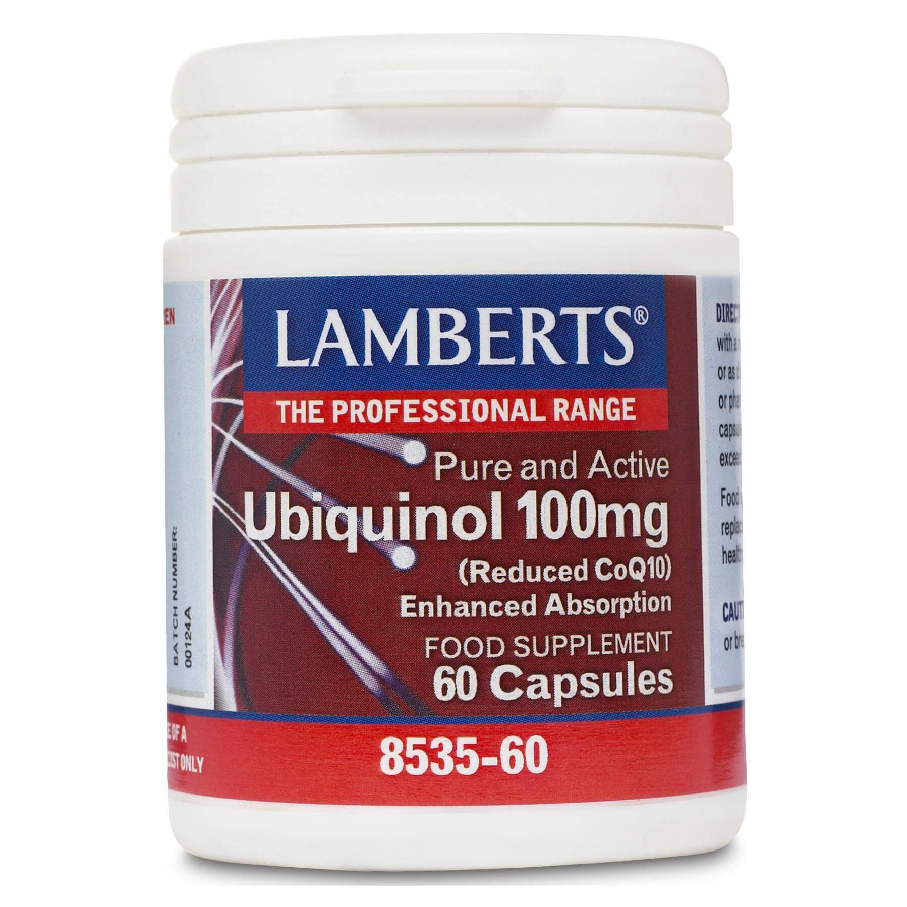 Lamberts Ubiquinol Συμπλήρωμα Διατροφής με Αντιοξειδωτική Δράση 100mg 60 Κάψουλες