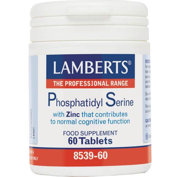 Lamberts Phosphatidyl Serine Συμπλήρωμα Διατροφής για την Διατήρηση της Φυσιολογικής Γνωστικής Λειτουργίας100mg 60tabs