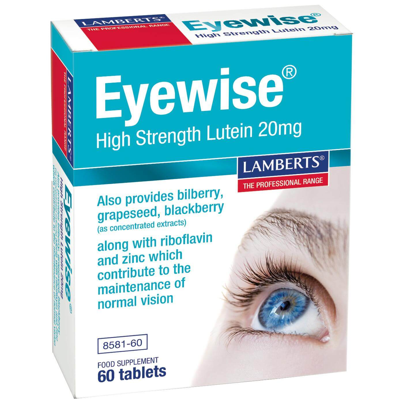 Lamberts Eyewise High Strength Lutein Συμπλήρωμα Διατροφής για τη Διατήρηση της Φυσιολογικής Όρασης 200mg 60tabs