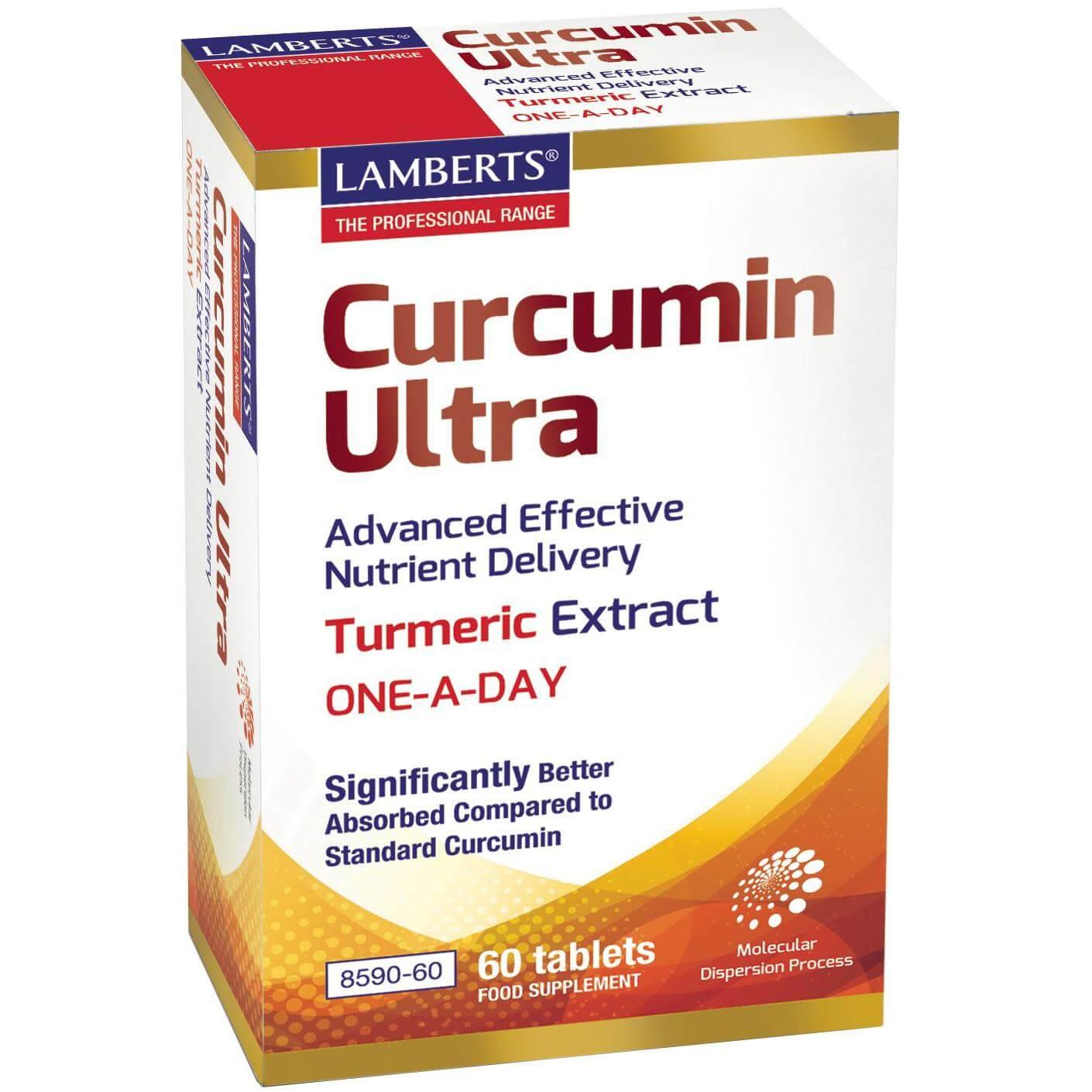Lamberts Curcumin Ultra Συμπλήρωμα Διατροφής για την Αντιμετώπιση των Χρόνιων Φλεγμονωδών Παθήσεων60Tabs