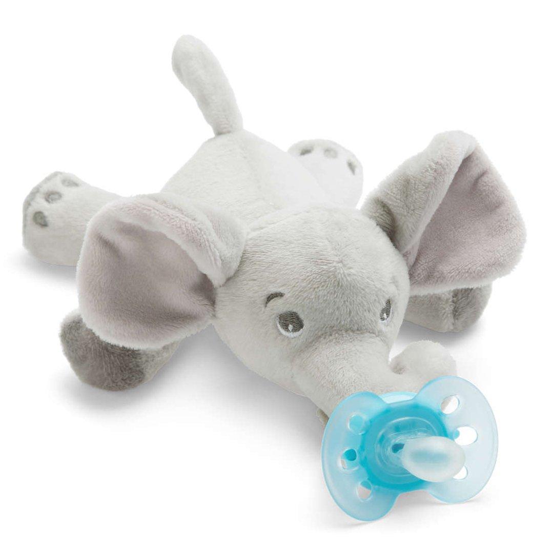 Avent Snuggle Λούτρινο Ελέφαντας – Μαλακή Ορθοδοντική Πιπίλα 0-6 Μηνών SCF348/13