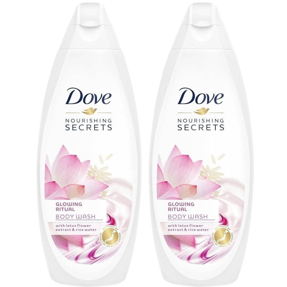 Dove Πακέτο Προσφοράς Glowing Ritual Lotus Flower Body Wash Αφρόλουτρο που Προσδίδει Λάμψη στην Επιδερμίδα 2x750ml 1+1 Δώρο