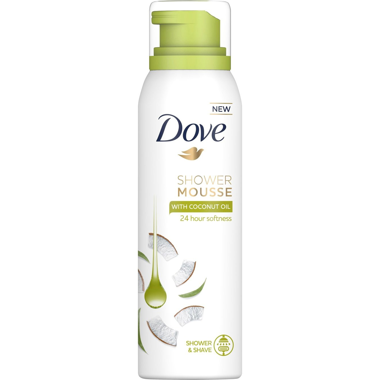 Dove Body Wash Shower Mousse with Coconut Oil Απαλός Αφρός Καθαρισμού & Περιποίησης της Επιδερμίδας με Έλαιο Καρύδας 200ml