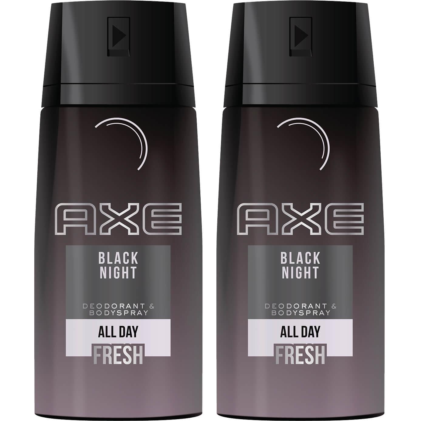 Axe Πακέτο Προσφοράς Black Night Spray Αποσμητικό μεΛεπτόκαι Μυστηριώδες Άρωμα 2x150ml 1+1 Δώρο