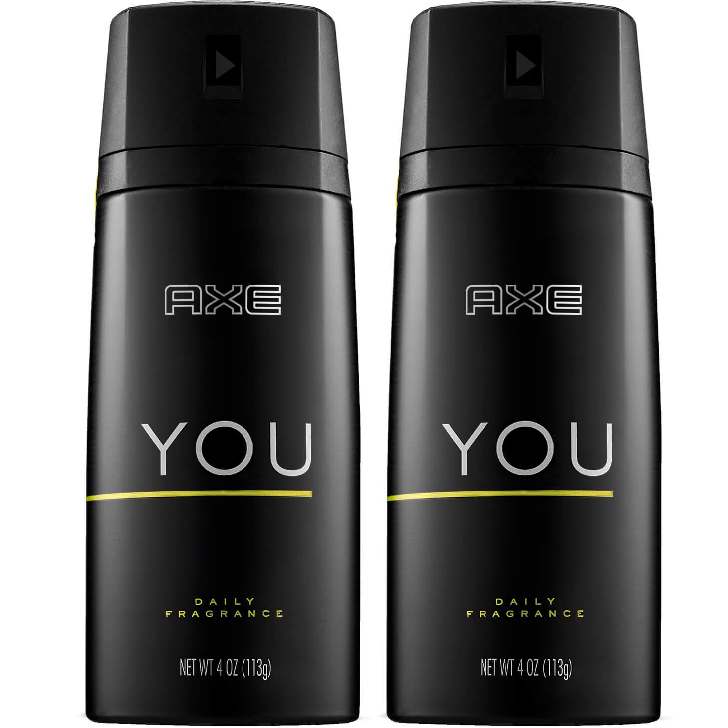 Axe Πακέτο Προσφοράς You Body Spray Αποσμητικό για Αίσθηση Φρεσκάδας και Αυτοπεποίθησης 2x150ml 1+1 Δώρο