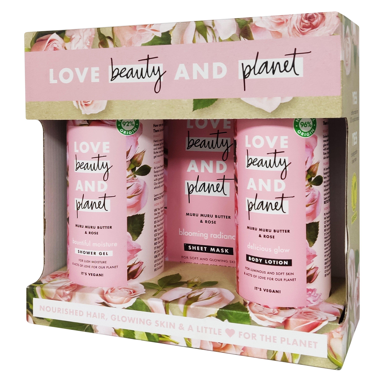 Love Beauty & Planet Muru Muru Butter & Rose Πακέτο Προσφοράς Shower Gel 500ml & Body Lotion 400ml & Sheet Mask 1x21ml