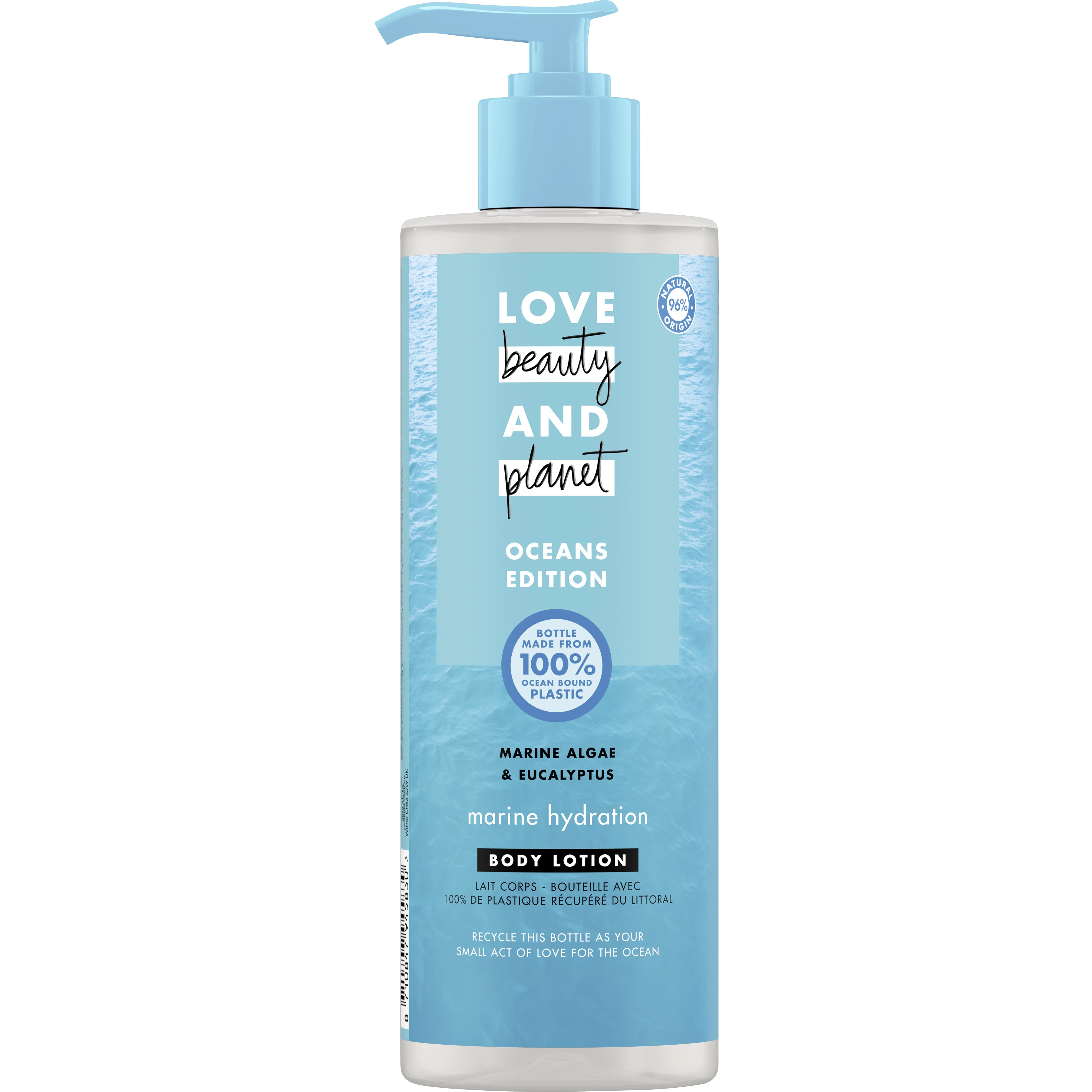 Love Beauty & Planet Oceans Edition Body Lotion With Marine Algae & Eucalyptus 400ml