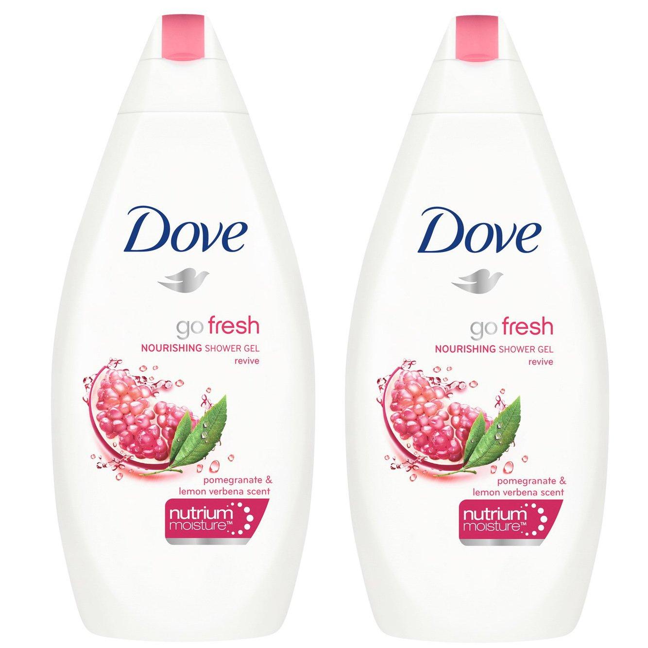 Dove Πακέτο Προσφοράς Go Fresh Pomegranate & Lemon Verbena Scent Body Wash Αφρόλουτρο με Ρόδι 2x750ml 1+1 Δώρο