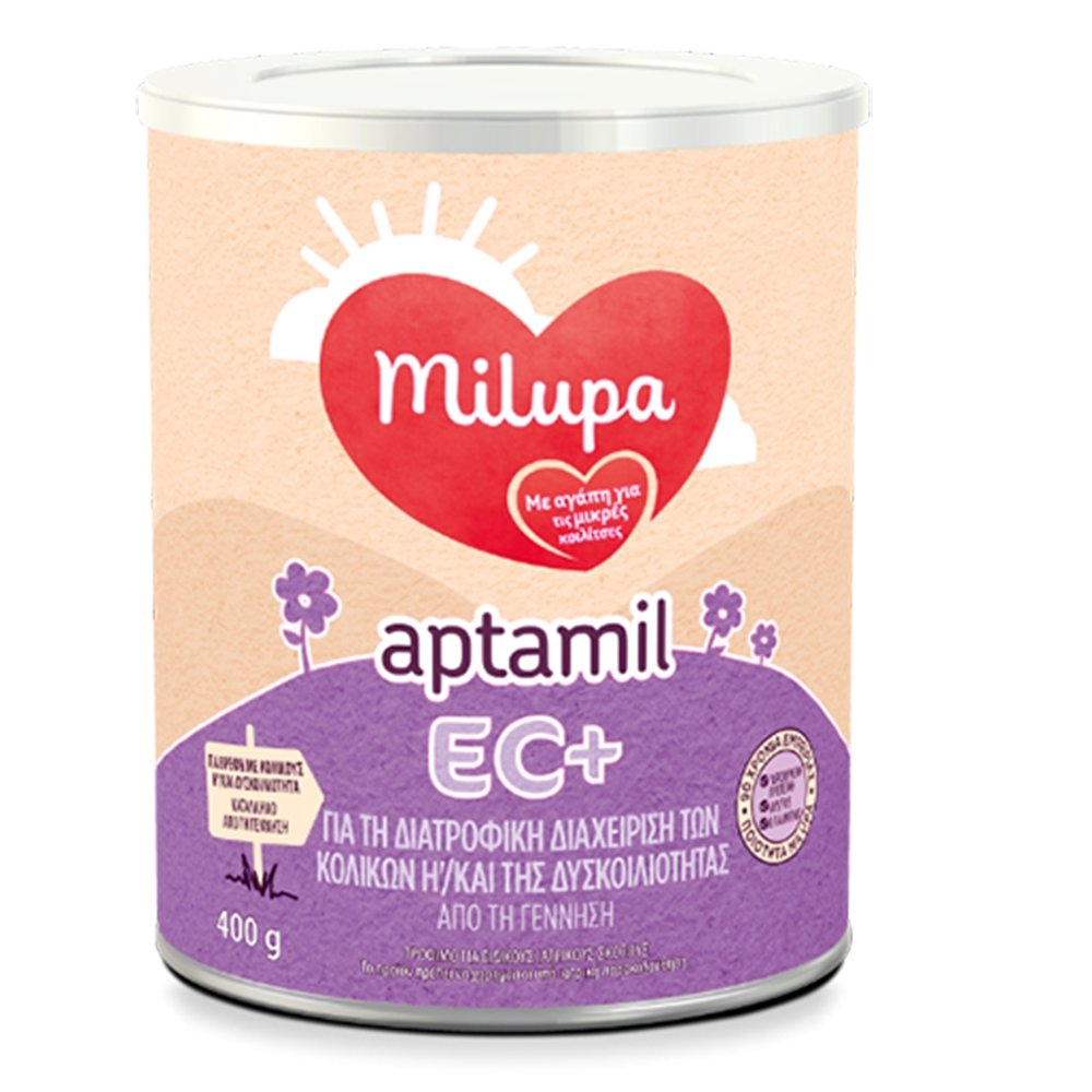 Milupa Aptamil EC+ για την Διατροφική Διαχείριση των Κολικών & της Δυσκοιλιότητας 400gr