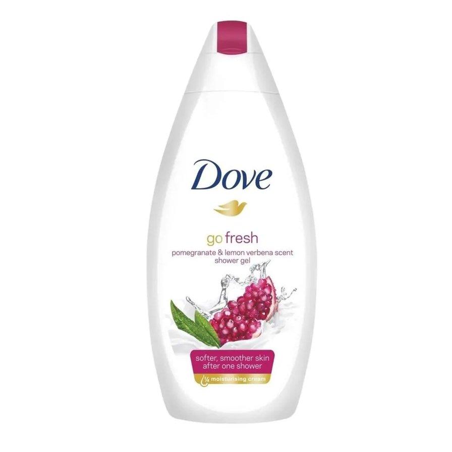 Dove Go Fresh Pomegranate & Lemon Verbena Scent Body Wash Αφρόλουτρο με Ρόδι για πιο Απαλή Επιδερμίδα από το Πρώτο Ντους 500ml