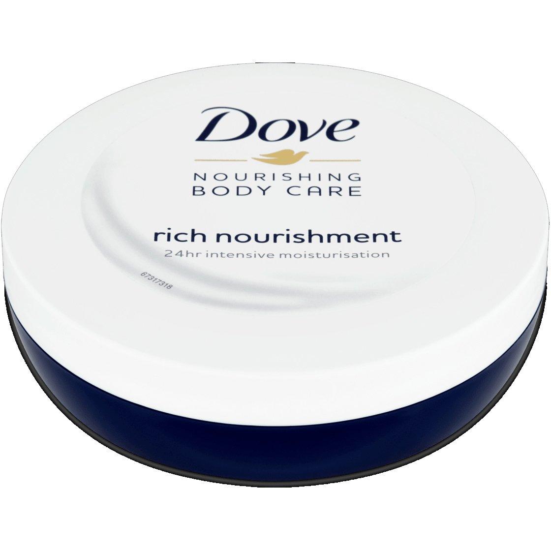 Dove Rich Nourishment Body Cream Θρεπτική Ενυδατική Κρέμα Σώματος για 24η Άνεση Ακόμα & στις Ευαίσθητες Επιδερμίδες 150ml