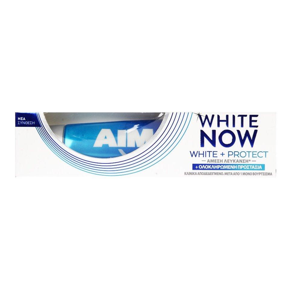 Aim White Now White & Protect Άμεση Λεύκανση και Ολοκληρωμένη Προστασία 75ml