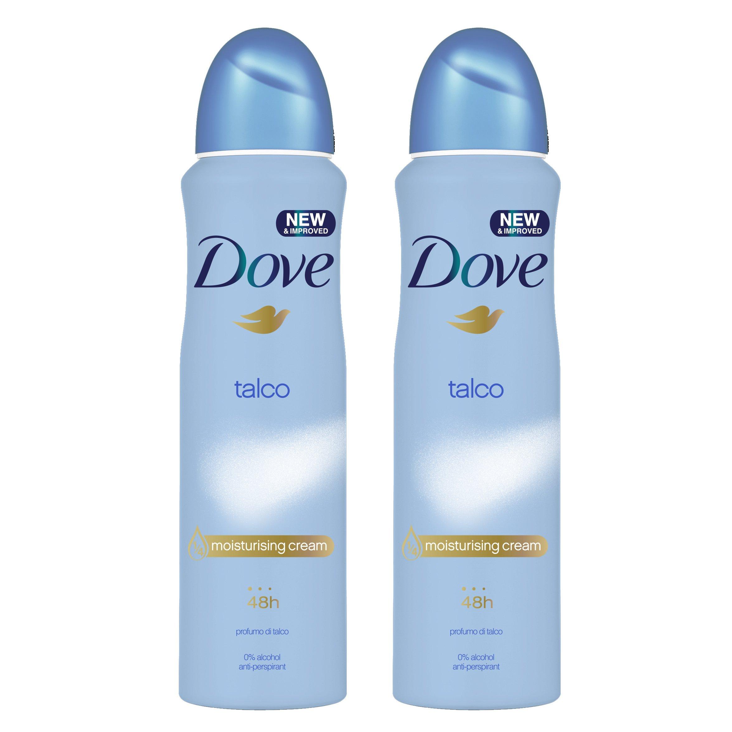 Dove Αποσμητικό Spray Talco 2 x150ml Πακέτο 1+1