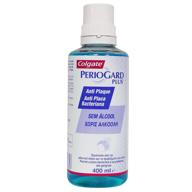 Colgate Periogard Plus Anti Plaque Mouthwash Στοματικό Διάλυμα Κατά της Πλάκας, Χωρίς Αλκοόλη για Καθημερινή Χρήση 400ml
