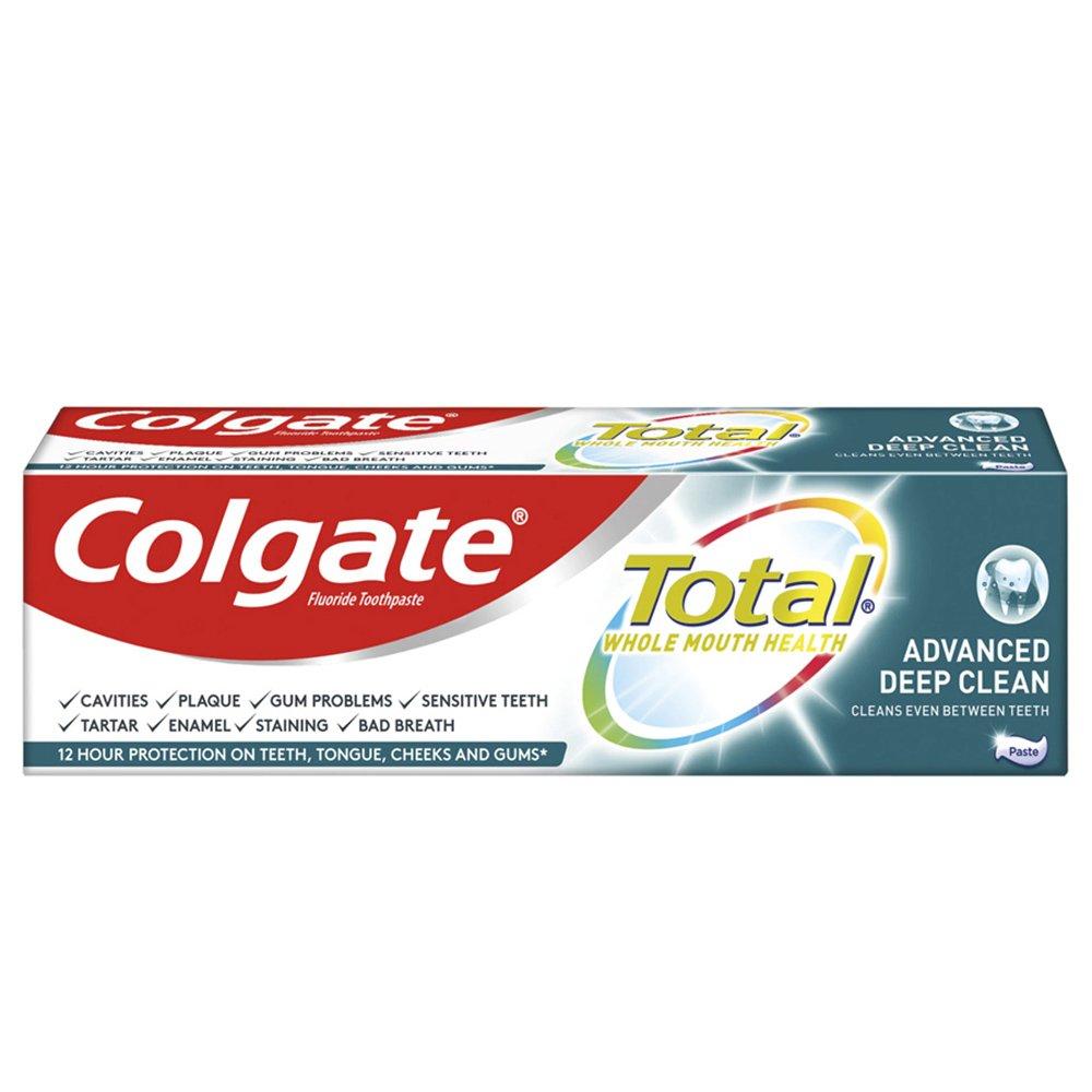 Colgate Total Whole Mouth Health Advanced Deep Clean Οδοντόκρεμα για Πραγματικά Βαθύ Καθαρισμό & πιο Υγειές Στόμα 75ml