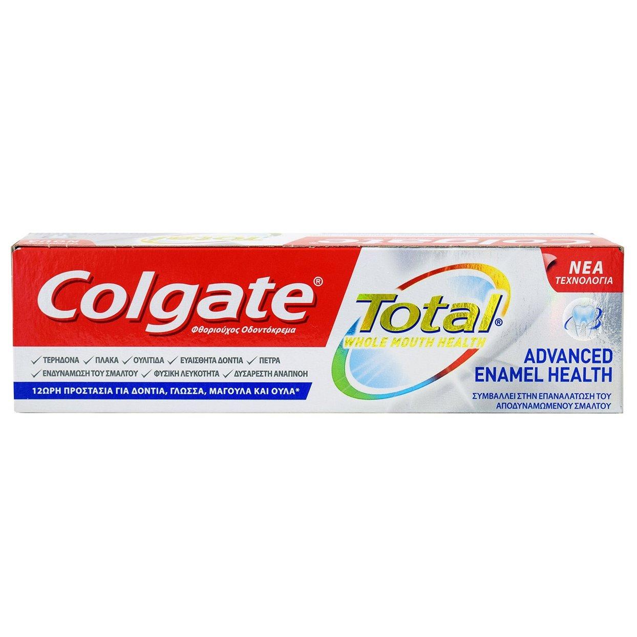 Colgate Total Advanced Enamel Health Οδοντόκρεμα που Συμβάλλει στην στην Αναδόμηση και Αποκατάσταση του Σμάλτου των Δοντιών 75ml
