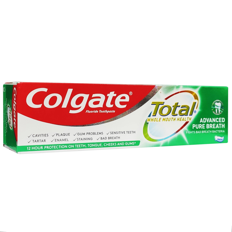 Colgate Total Whole Mouth Health Advanced Pure Breath Οδοντόκρεμα για Υγειές Στόμα & Μοναδική Αίσθηση Δροσερής Αναπνοής 75ml