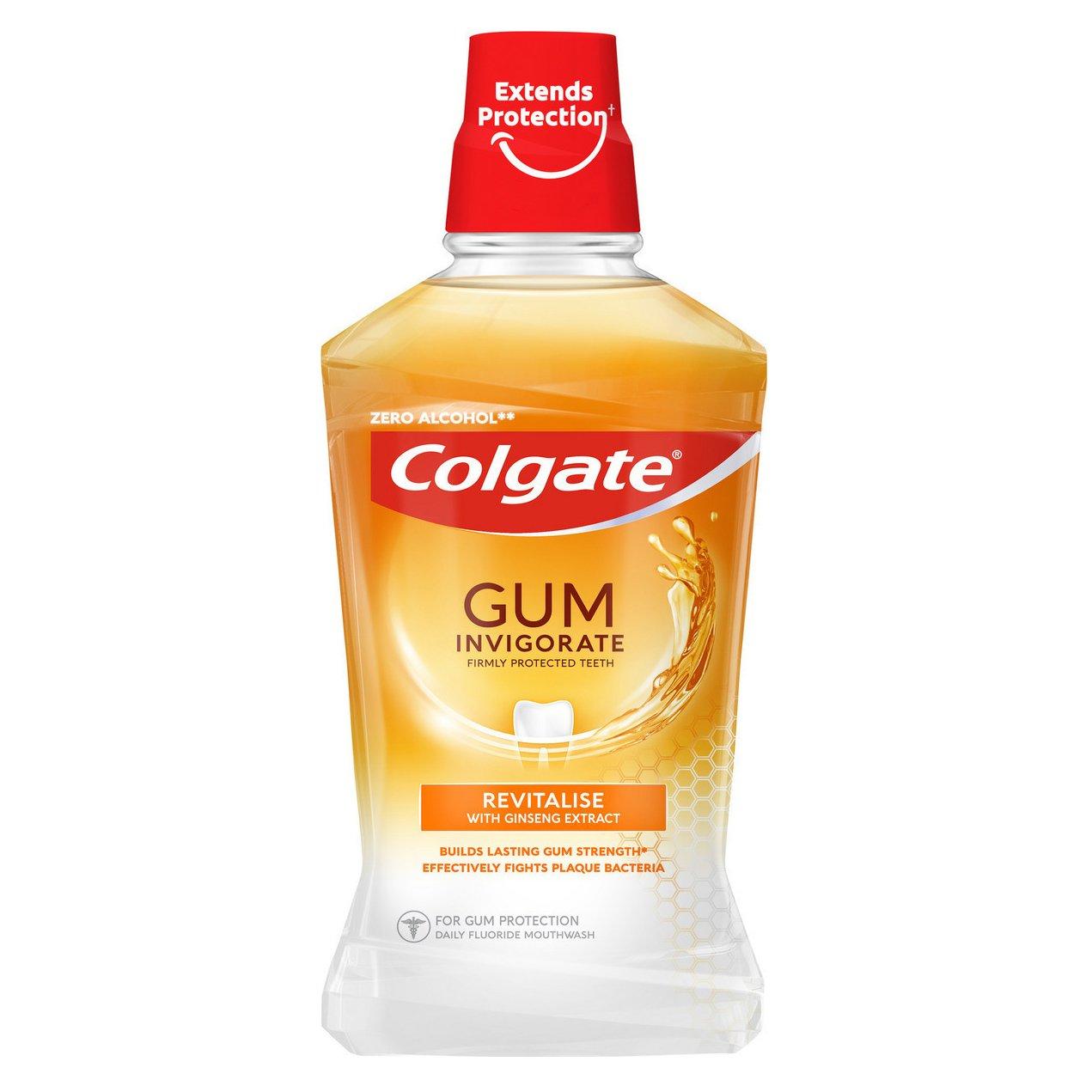 Colgate Gum Invigorate Teeth Mouthwash Στοματικό Διάλυμα Κατά των Προβλημάτων & των Ερεθισμών των Ούλων 500ml