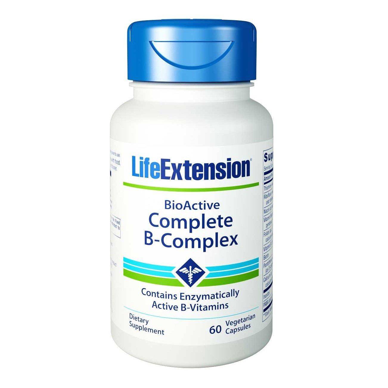 Life Extension Bio Active Complete B-Complex Συμπλήρωμα Διατροφής Βιταμινών του Συμπλέγματος Β 60veg.caps