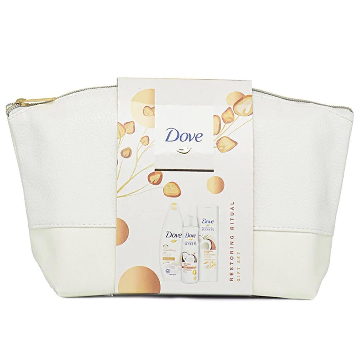 Dove Πακέτο Προσφοράς Nourishing Secrets Coconut Σετ Περιποίησης με Αφρόλουτρο 250ml, Γαλάκτωμα Σώματος 250ml & Deo Spray 150ml