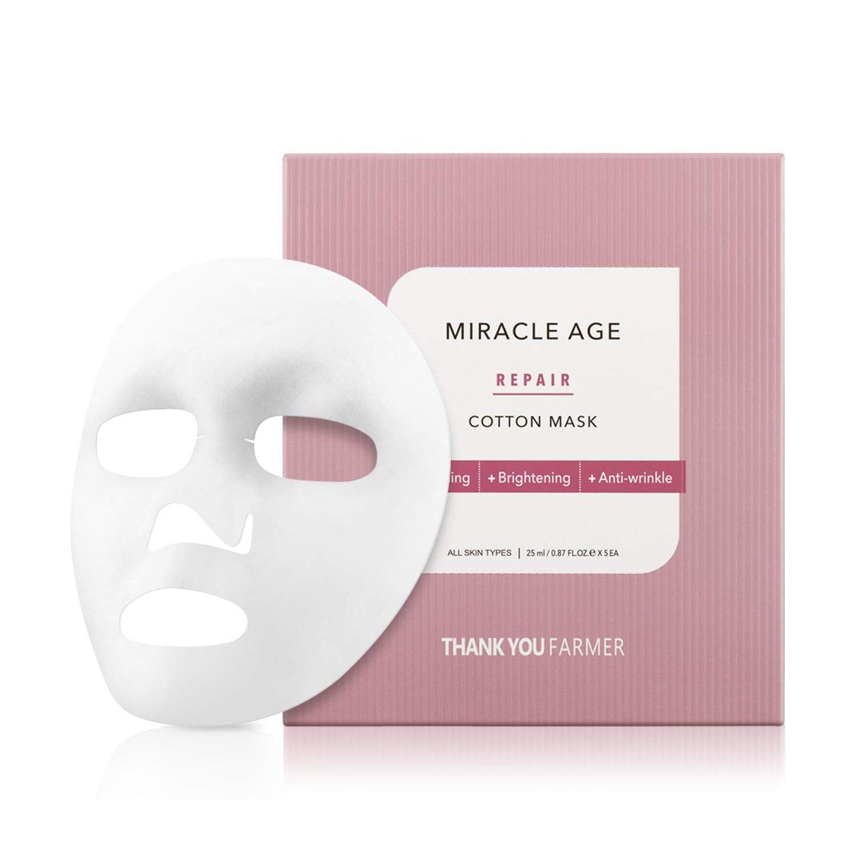 Thank You Farmer Miracle Age Repair Cotton Mask Θρεπτική Υφασμάτινη Μάσκα Προσώπου Εντατικής Τροφής της Επιδερμίδας 1 Τεμάχιο