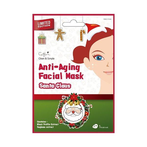 Vican Cettua Clean & Simple Anti-Aging Facial Mask Santa Claus για Ομορφιά Αναζωογόνηση και Ενυδάτωση 1τμχ