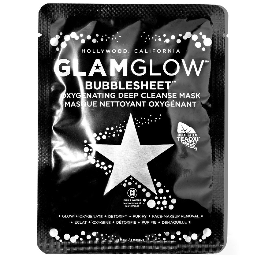 Glamglow Bubblesheet Oxygenating Deep Cleanse Mask Καθαριστική Μάσκα που Αφροποιείται 1τμχ